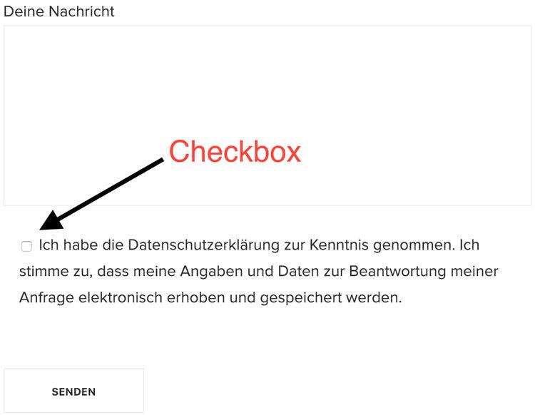 DSGVO-Checkbox